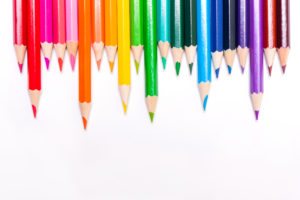 lgbtf 300x200 Background with pencils rainbow flag. concept of LGBT.